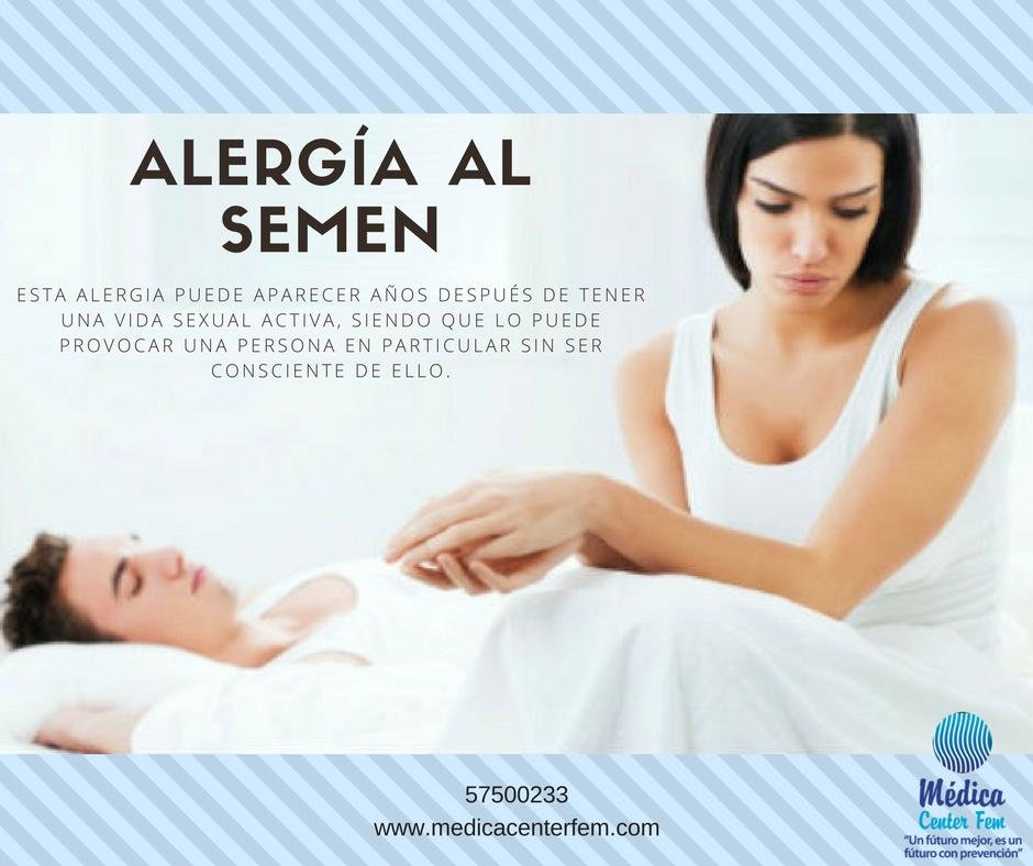 Alergia al semen