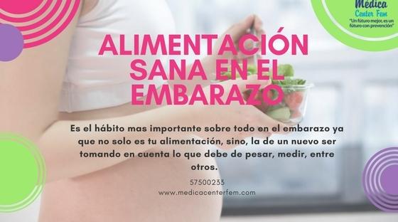 Alimentación sana en el embarazo