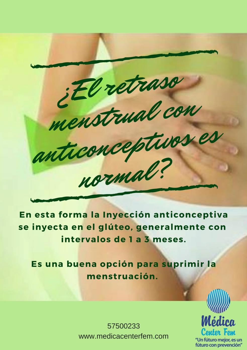 Anticonceptivos y retraso menstrual