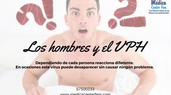 los hombres y el VPH