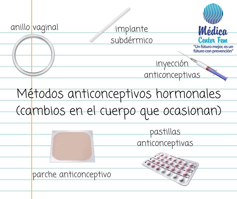 Métodos anticonceptivos hormonales: posibles efectos secundarios