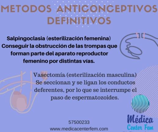 metodos anticonceptivos definitivos