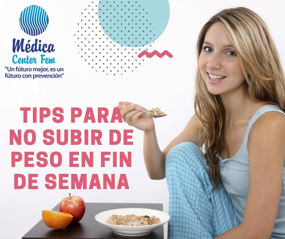 tips para no subir de peso en fin de semana