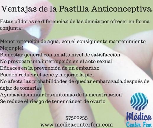Ventajas de la Pastilla anticonceptiva