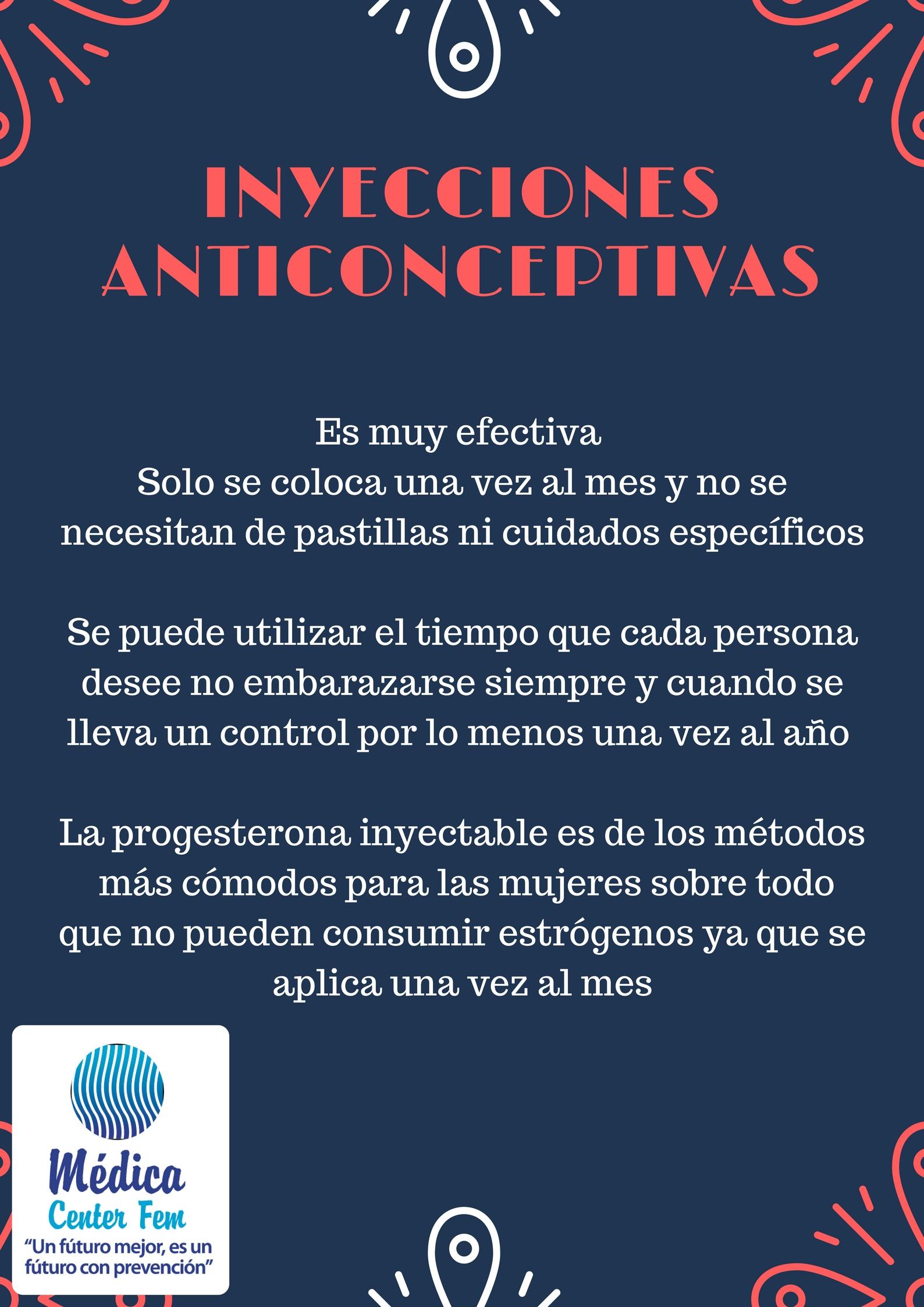 Inyecciones anticonceptivas