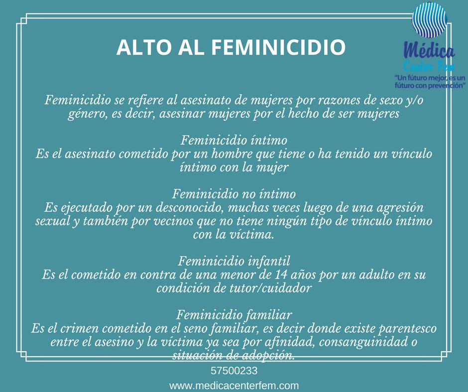Alto al feminicidio