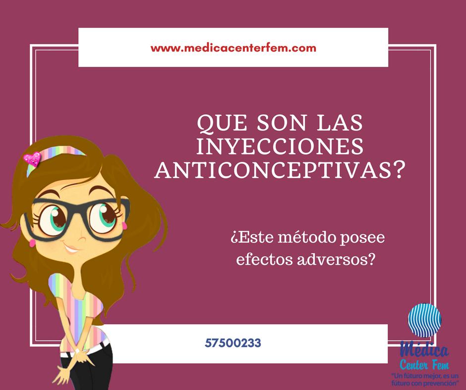 que son las inyecciones anticonceptivas?