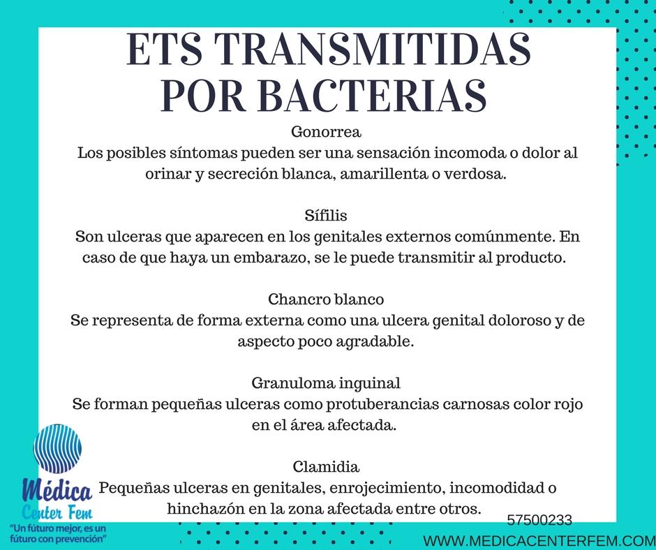 ETS transmitidas por bacterias