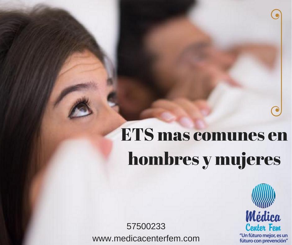 ETS mas comunes en hombres y mujeres