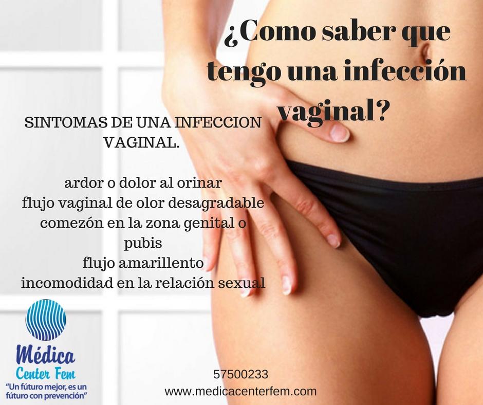 ¿Como saber que tengo una infección vaginal?