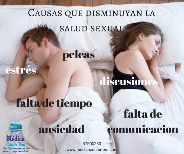 Causas que disminuyan la salud sexual