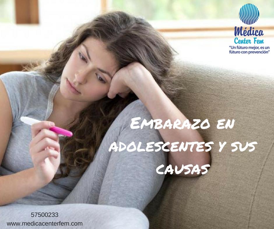 embarazo en adolescentes y sus causas