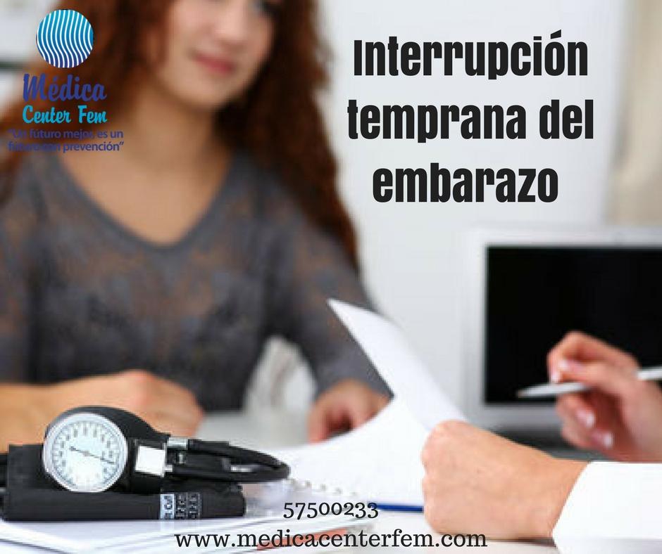 Interrupción temprana del embarazo