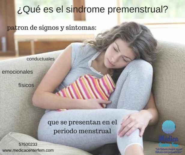 ¿Qué es el sindrome premenstrual?