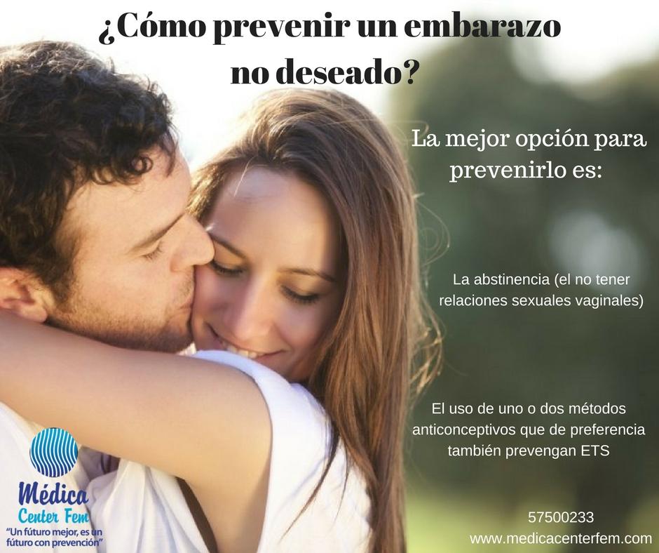Cómo prevenir un embarazo no deseado
