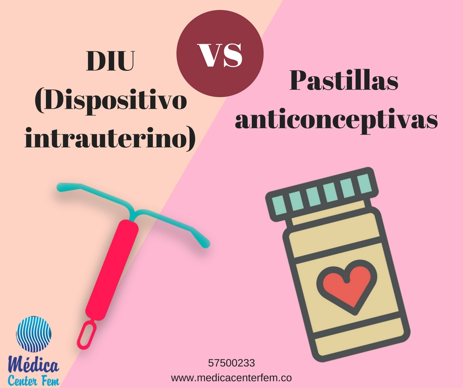 Pastillas anticonceptivas vs DIU