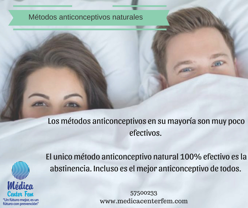 métodos anticonceptivos naturales