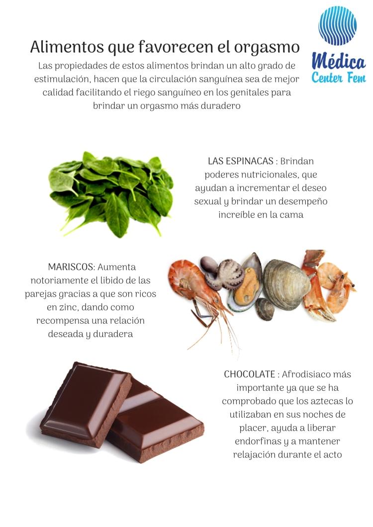 Alimentos que favorecen el orgasmo