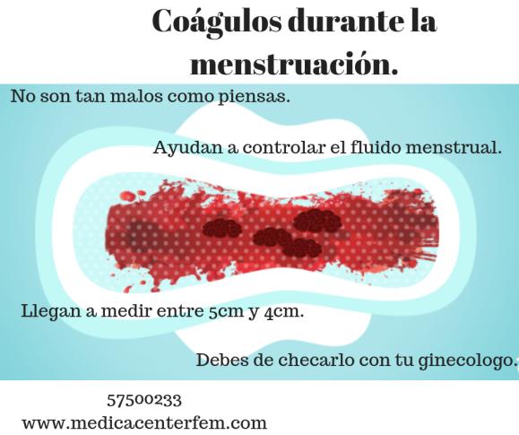 Coágulos durante la menstruación. (1)