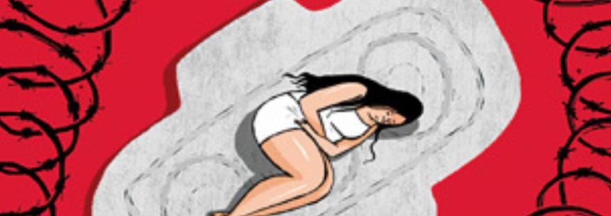 Coágulos durante la menstruación.