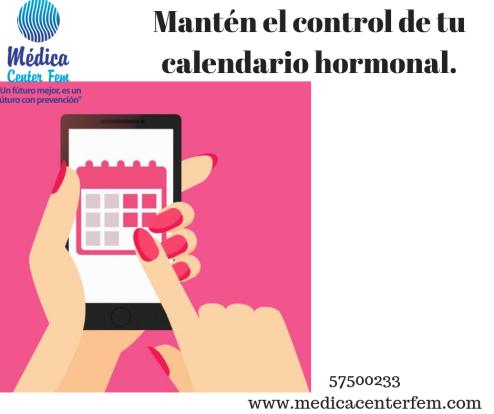 Mantén el control de tu calendario hormonal.