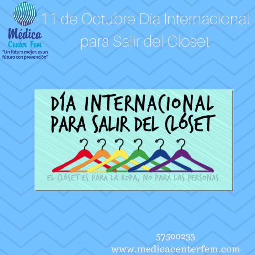11 de Octubre Día Internacional para Salir del Closet