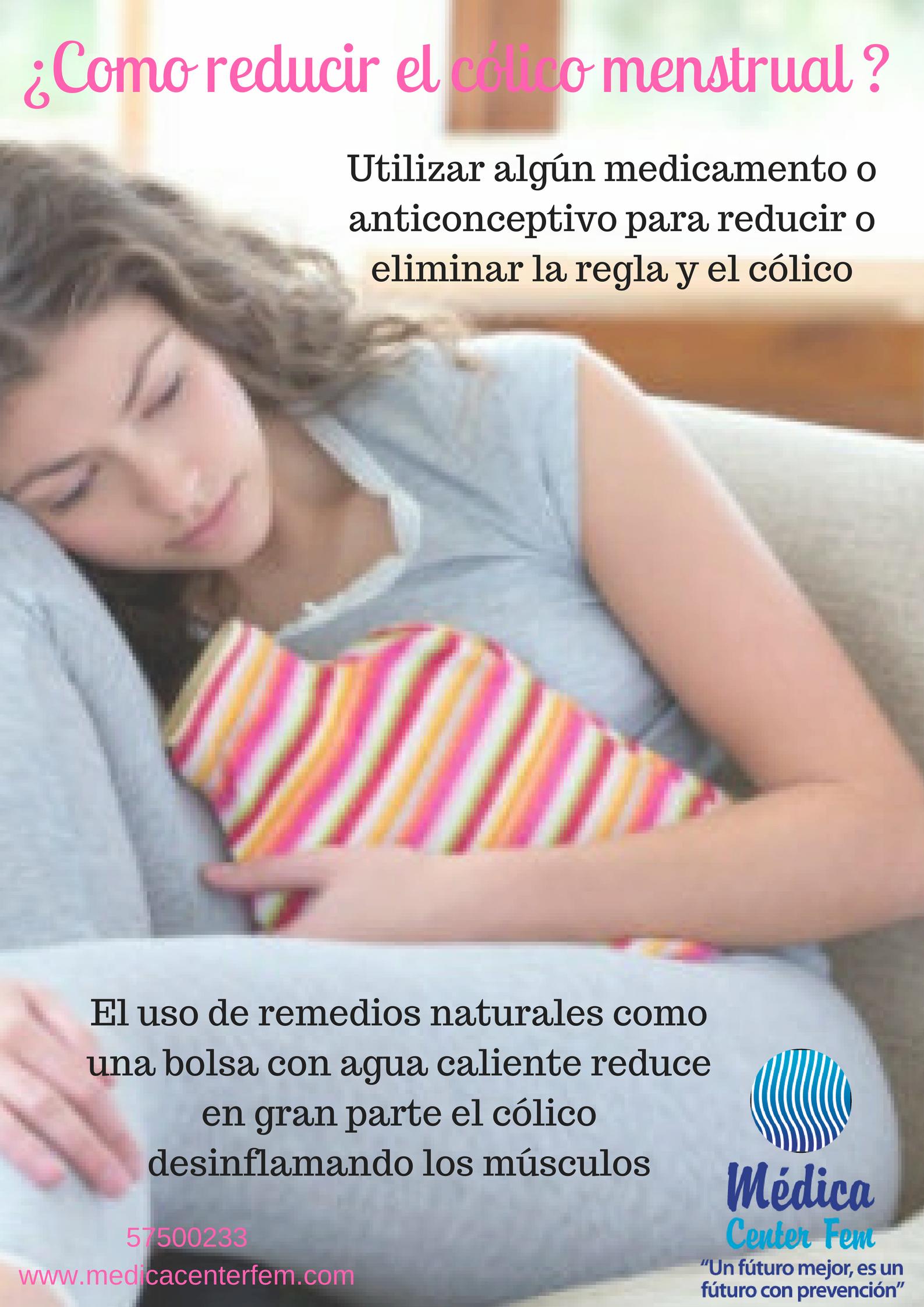 reducir el cólico menstrual